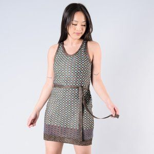Missoni Blue/Brown Glittery Sleeveless Dress
